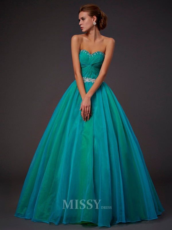 Ball Gown Sweetheart Floor-length Tulle Evening Dress With Ruched