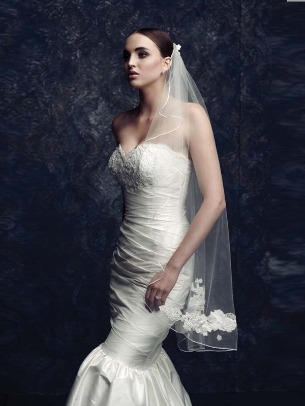 Tulle With Embroidery Wedding Veils