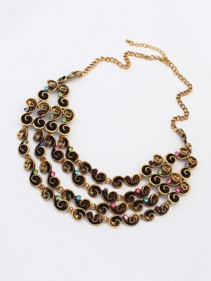 Occident Hyperbolic Personality multi-layered Necklace