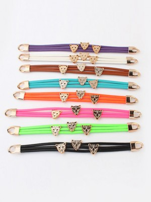 Occident Candy colors Summer All-match Leopard head Bracelets