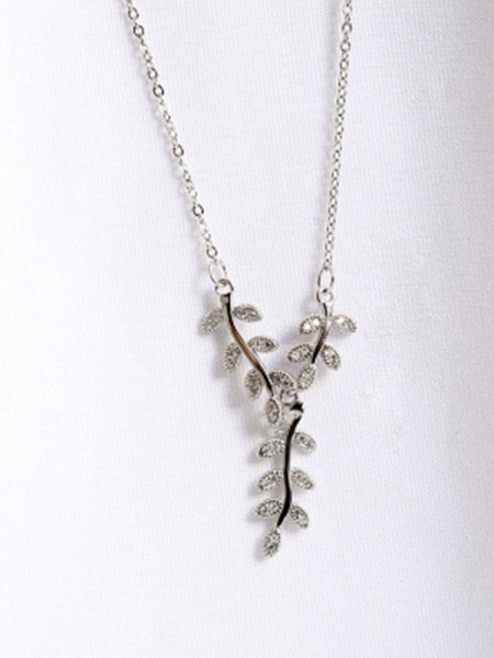 Women's Necklaces With Leaf Graceful 925 Sterling Silver
