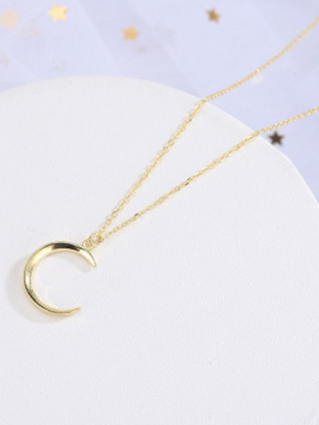 Women's Necklaces New S925 Silver With Moon