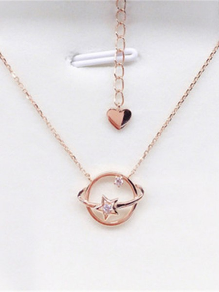 Women's 925 Sterling Silver Necklaces With Universe