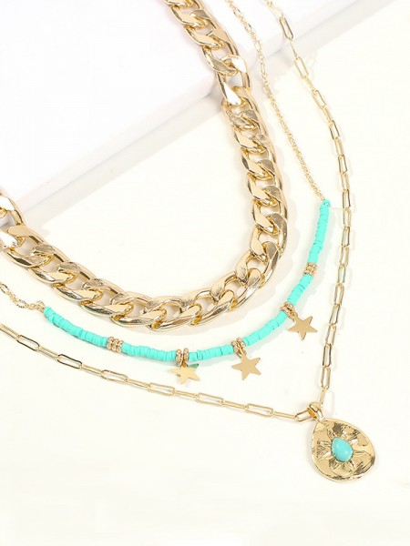 Pretty Alloy With Star Women's Necklaces