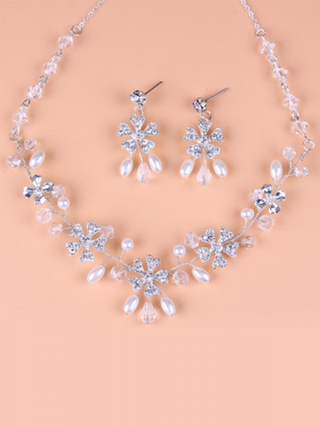 Wedding Bridal Korean Pretty Alloy Jewelry Set