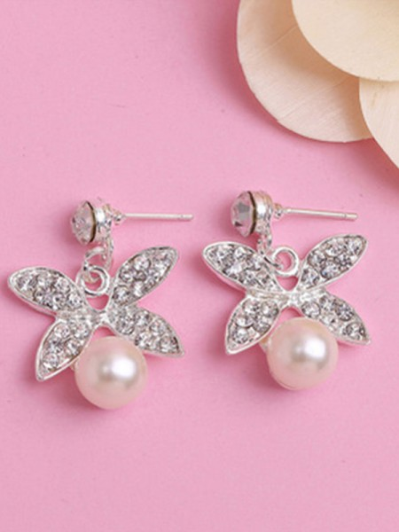 Charming Alloy With Pearl Women's Jewelry Set