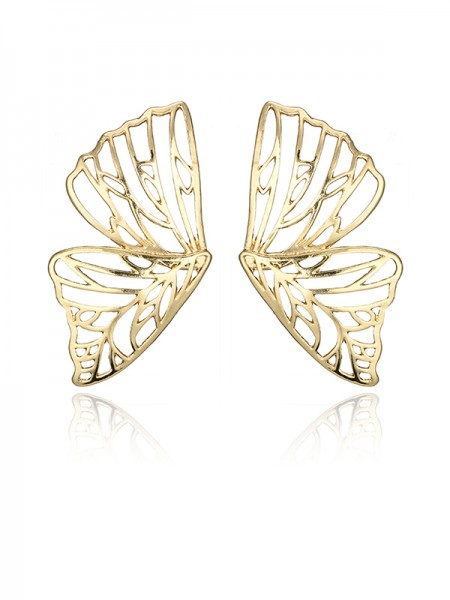 Ladies's Gorgeous Zinc Alloy With Butterfly Earrings