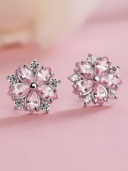 Hot Sale Graceful S925 Silver With Snowflake Earrings