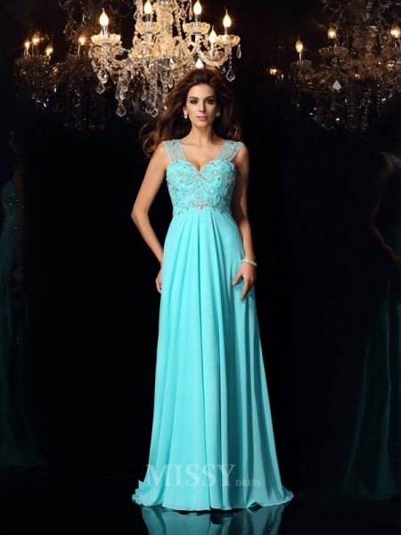 A-Line/Princess Sweetheart Chiffon Sweep/Brush Train Dress With Ruched