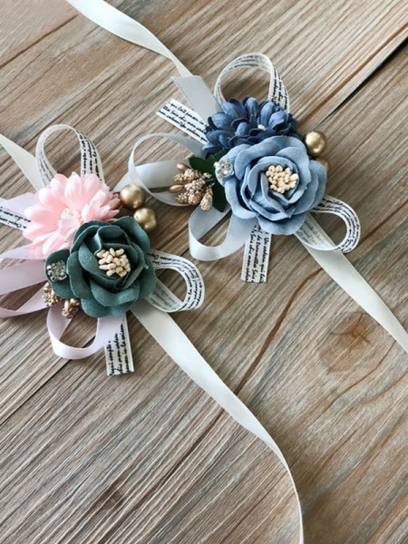 Charming Wedding Decoration Artificial Flower Wrist Corsage