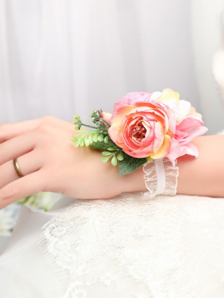 Attractive Silk Flower Wrist Corsage Bridal Bouquet