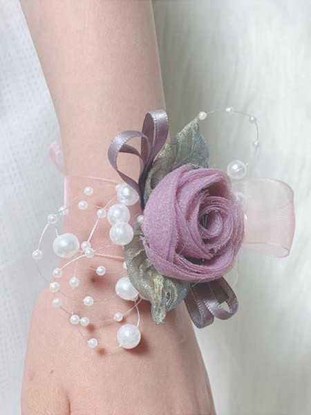 Fascinating Bridal Cloth Wrist Corsage