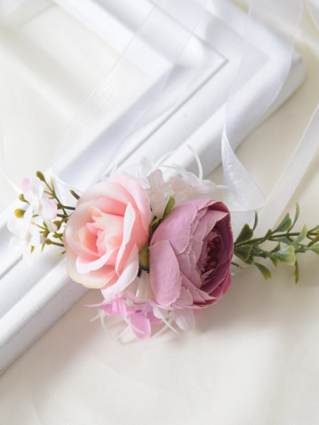 Blooming Cloth Wrist Corsage Wedding Supplies