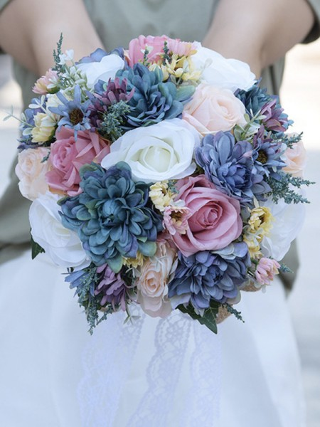Fancy Bridal Bouquets Round Artificial Flower