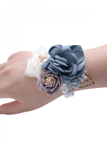 Fashion Hand-tied Cloth Wedding Party Wrist Corsage