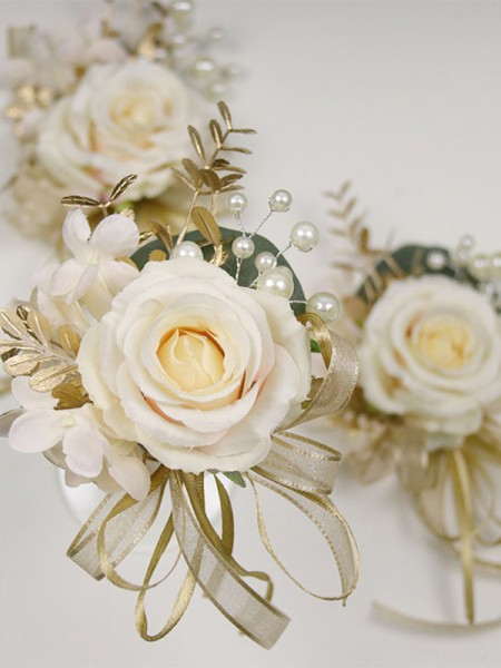 Gorgeous Cloth Wrist Wedding Corsage