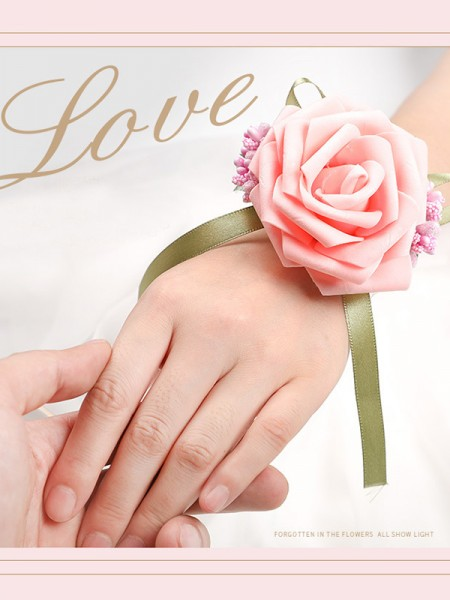 Lovely Foam Wrist Wedding Corsages