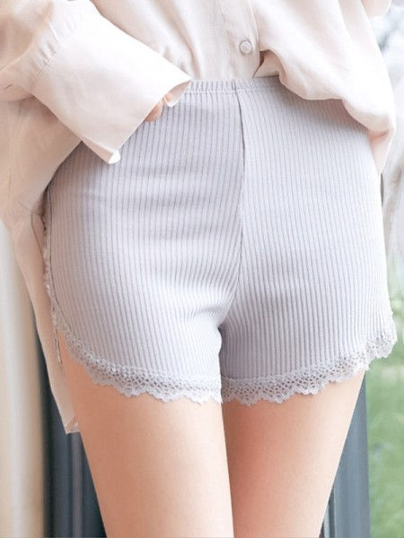 Cotton Lace Seamless Women's Safety Pants/Safety Shorts