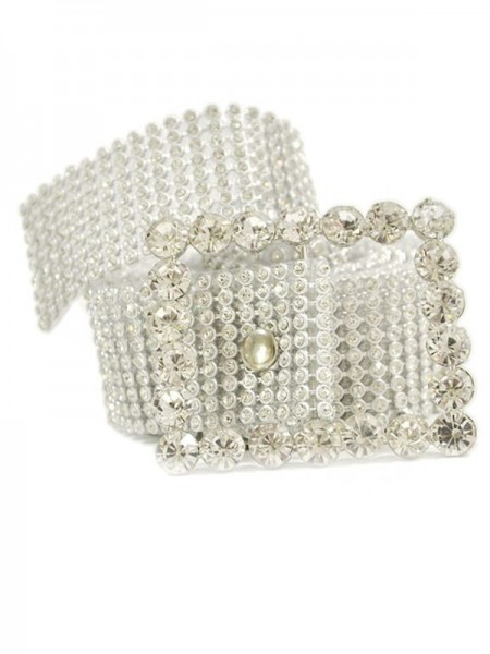 Women's Alloy Sashes Crystal Rhinestone Ribbon