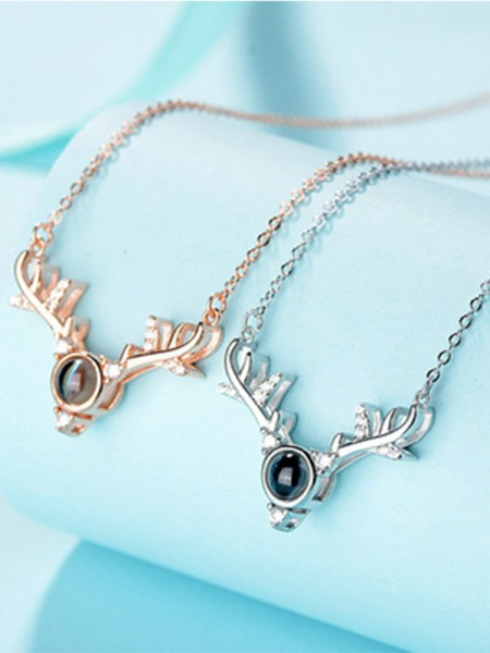 Hot Sale S925 Silver With Antler Women's Necklaces