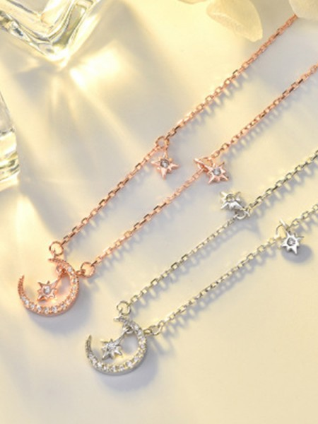 Ladies's Charming S925 Silver Necklaces