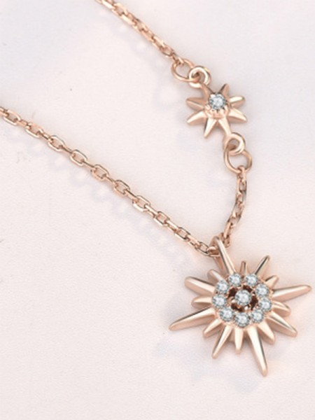 Trending Silver With Sun Womens Necklaces