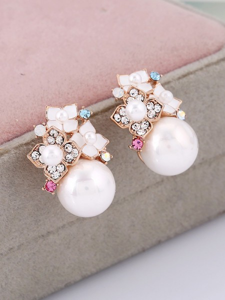 Women's New Alloy With Pearl Jewelry Set