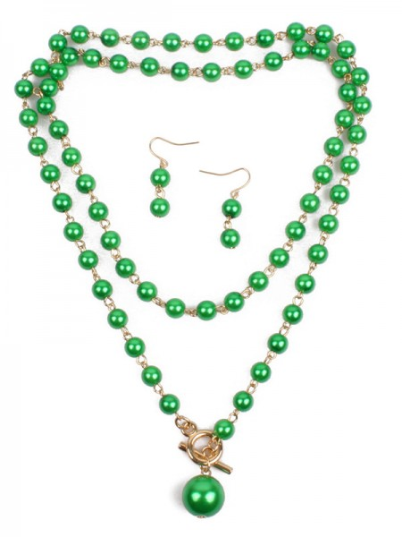 Womens Occident Fashion Pearl Jewelry Set