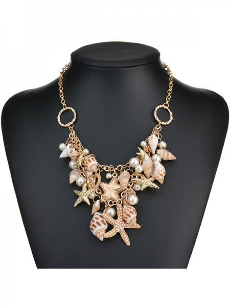 Gorgeous Alloy With Pearl Women's Necklaces