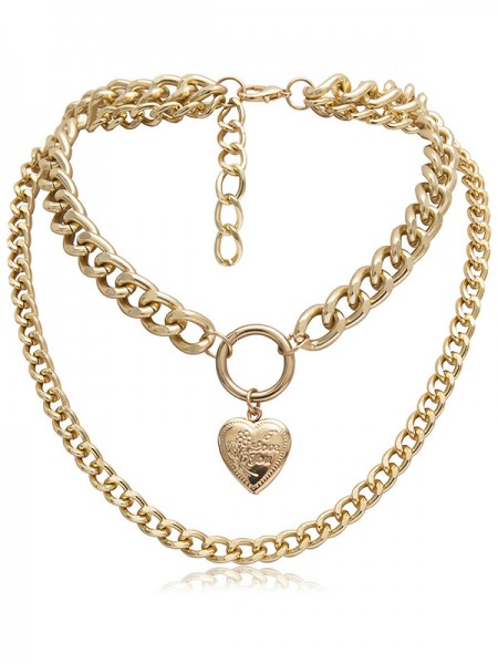 Hot Sale Women's Alloy With Heart Necklaces
