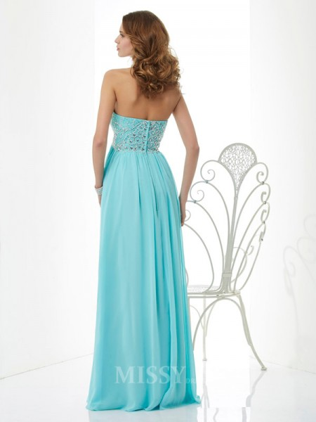A-Line Sweetheart Chiffon Floor-Length Evening Dress With Sequin