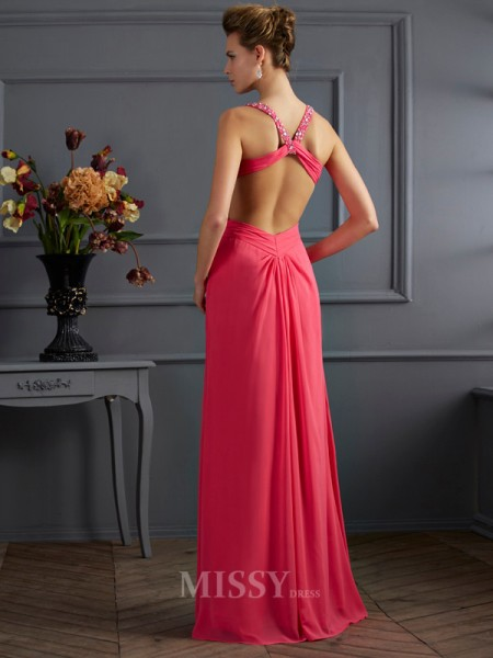 Empire Sweetheart Chiffon Floor-length Evening Dress With Applique