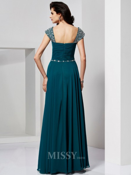 A-Line Sweetheart Chiffon Evening Dress With Beading