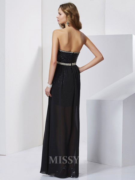 A-Line Chiffon Mini Evening Dress With Rhinestone