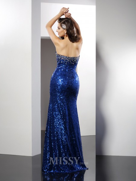 Sheath/Column Sweetheart Sequin Floor-Length Sequins Dress With Ruched