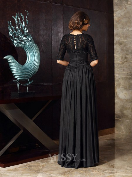 A-Line/Princess Sweetheart Taffeta Applique Floor-Length Mother Of The Bride Dress With Applique