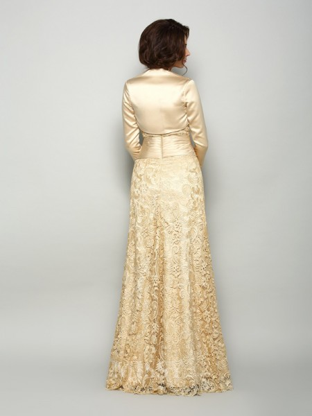 A-Line/Princess Satin Floor-Length Sweetheart Mother Of The Bride Dress With Applique