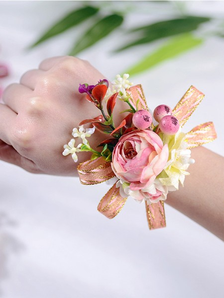 Delicate Cloth Wrist Wedding Bride Flowers