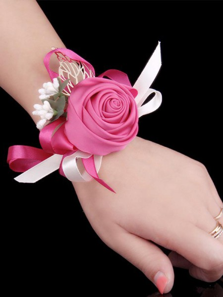 Wedding Cloth Wrist Corsage Hand flowers