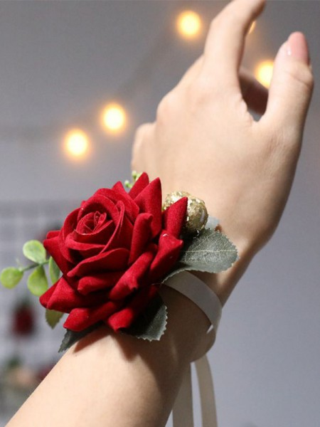 Attractive Cloth Wrist Corsage Wedding Dancing Party Decor