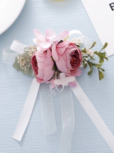 Graceful Cloth Bridal Wrist Corsage