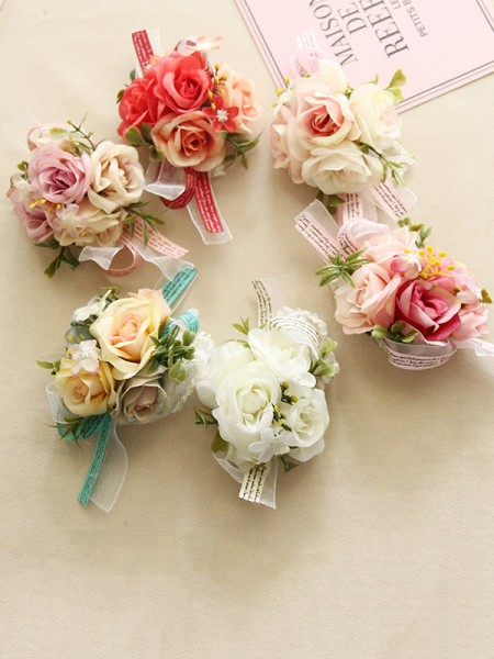 Fashion Cloth Wrist Corsage Wedding Flower