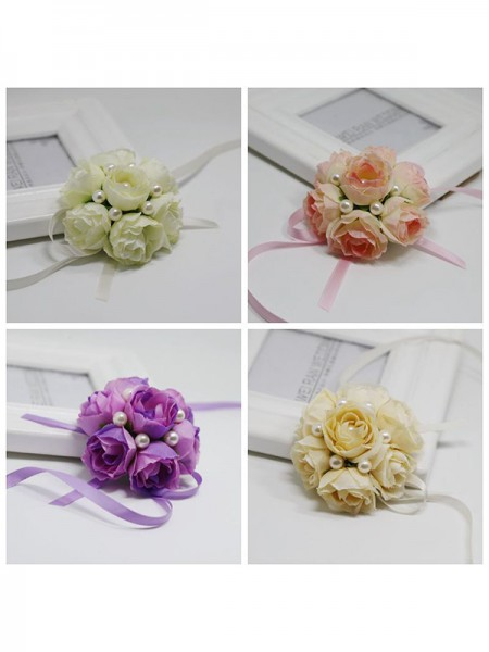 Fancy Cloth Wrist Corsage Bridal Bouquets