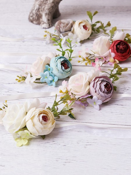 Pretty Artificial Wedding Flower Wrist Corsage