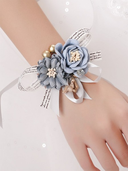Fashion Silk Flower Wedding Party Wrist Corsage