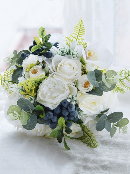 Free-Form Artificial Flower Fancy Bridal Bouquets