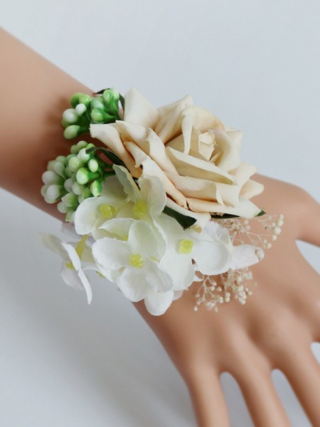Pretty Silk Flower Bridal Wrist Corsage