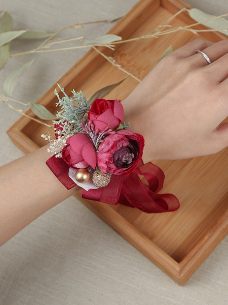 Delicate Cloth Wrist Wedding Corsage