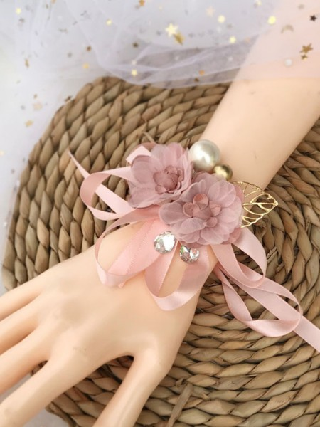 Delicate Silk Wrist Wedding Corsages