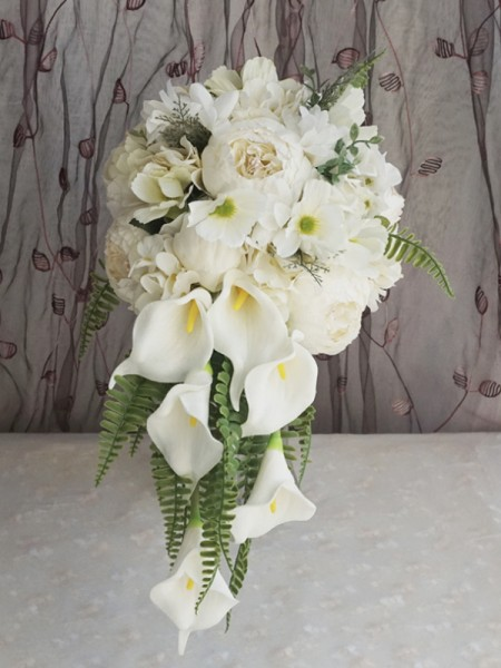 Cascade Silk Flower Fashion Bridal Bouquets